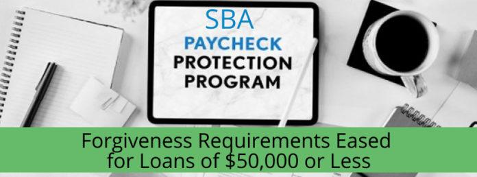 SBA PPP Loan Forgiveness Eased